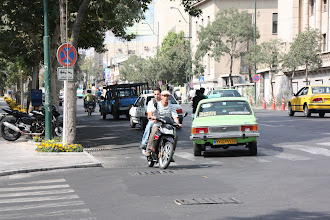Photo: Day 138 - Bike on Wrong Side of Road (Normal in Tehran)