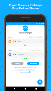 CryptoChanger Exchange - Buy & Sell CryptoCurrency - náhled
