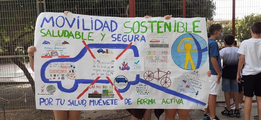 Estudiantes de Nueva Andalucía, por una movilidad sostenible