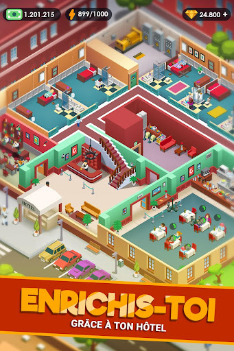 Hotel Empire Tycoon - Idle Game Gestion Simulation APK MOD – ressources Illimitées (Astuce) screenshots hack proof 2