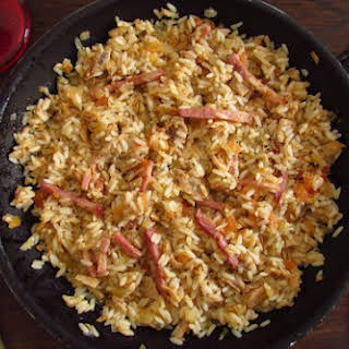 Tuna And Bacon With Rice.