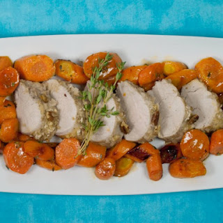 Pecan Crusted Pork Tenderloin with Honey Glazed Carrots