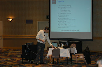 Photo: Skip McGaughey running the Eclipse General Member Meeting, EclipseCon 2004
