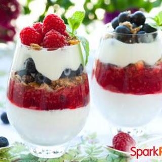 Patriotic Fruit & Yogurt Parfaits