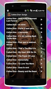 Celine Dion Songs - náhled