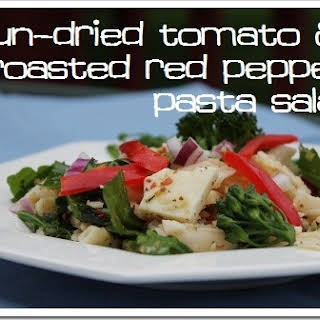 Sun-Dried Tomato & Roasted Red Pepper Pasta Salad for a Crowd {Gluten-free}.