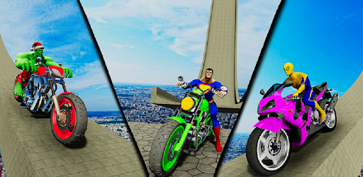 Be the best motorcycle ramp stunts hero in impossible game