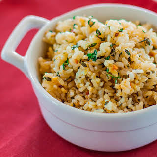 Lemon Brown Rice with Garlic and Thyme.