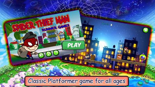 Spider Thief Man : Runner Game