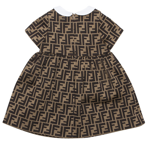 Thumbnail images of Fendi Baby 'FF' Logo Dress