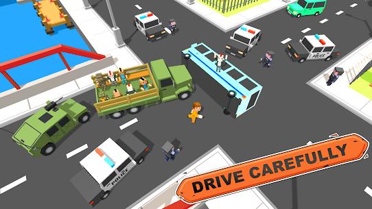 Blocky Vegas Crime Simulator:Prisoner Survival Bus 5