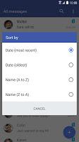 screenshot of HTC Messages