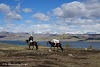 Mongolia Altai Mountains Trekking Altai Tavan Bogd National Park // Our guide and packhorse by Khoton Lake
