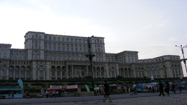 Palace of Parliament near Unirii Square Bucharest