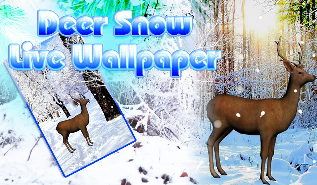 Deer snow live wallpaper android apps on google play - Hunting wallpaper for android ...