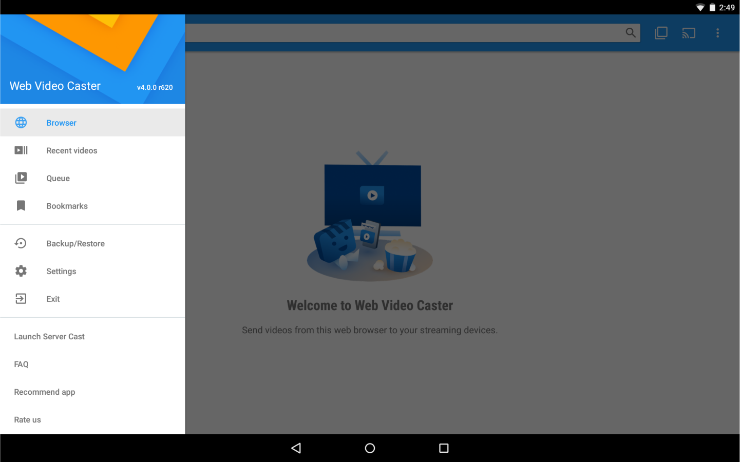 Web Video Cast | Browser to TV (Chromecast/DLNA/+) – Capture d'écran