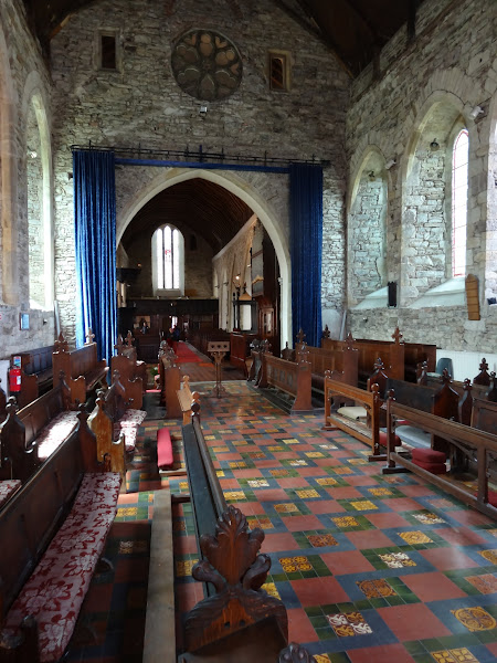 """Photo: Inside St. Mary Collegiate, Youghal (pronounced """"yawl""""), a 12th-century church."""