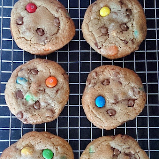 Brown Butter Chocolate Chip & M&M Cookies