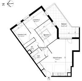 Appartement 4 pièces 82,78 m2