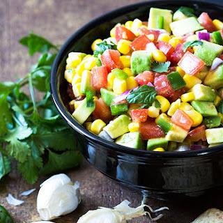 Avocado, Corn and Tomato Salsa.