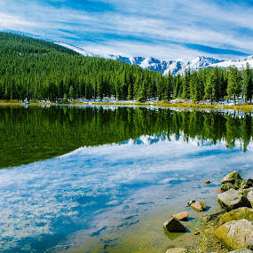 Echo Lake by Anatoliy Kosterev - Landscapes Waterscapes ( mountains, nature, reflections, lake, forest )