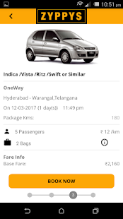 Zyppys: Book Outstation Taxi- screenshot thumbnail