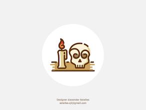 Photo: Nostalgia skull icon