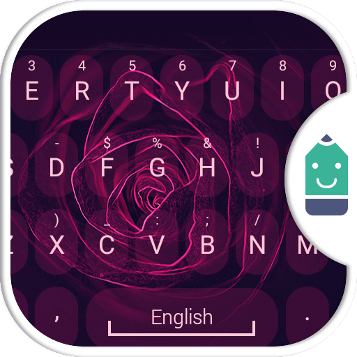Neon Rose Theme&Emoji Keyboard