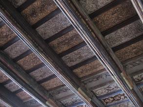 Photo: I rozejrzeliśmy się wokół, bo ciekawi jesteśmy. Nad głowami mieliśmy renesansowy, pięknie malowany sufit, który odkryto parę lat temu.