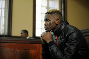 Murder accused 27-year-old Sandile Mantsoe during his first appearance at the Johannesburg Magistrate's Court for allegedly killing his girlfriend Karabo Mokoena on May 12, 2017 in Johannesburg.