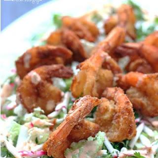 Low Carb Bang Bang Shrimp with Asian Slaw (Gluten Free).