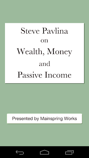 Steve Pavlina: Wealth Money