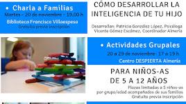 Cartel de actividades inauguración Programa Despierta Almería.