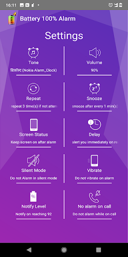 Battery 100% Alarm 4.2.8 screenshots 3