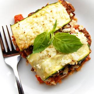 Eggplant and Zucchini Lasagna.