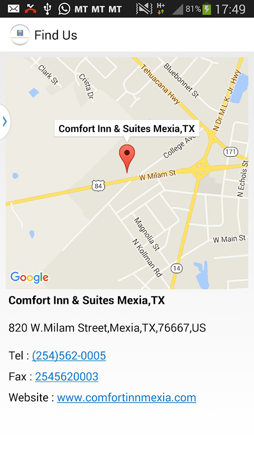 Comfort Inn & Suites Mexia,TX- screenshot