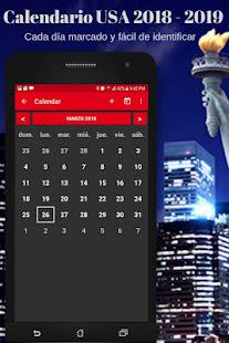 App Calendario USA 2019 con festivos gratis APK for Windows Phone