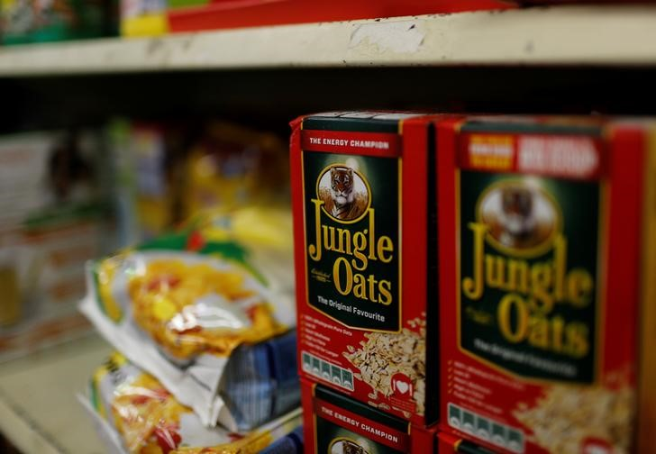 Boxes of Jungle Oats, one of South Africa's Tiger Brands original products. Picture: REUTERS, MIKE HUTCHINGS