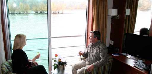 amadolce-stateroom.jpg - Relax in your stateroom and take in views of stirring landscapes along the riverbanks of Bordeau on AmaDolce.