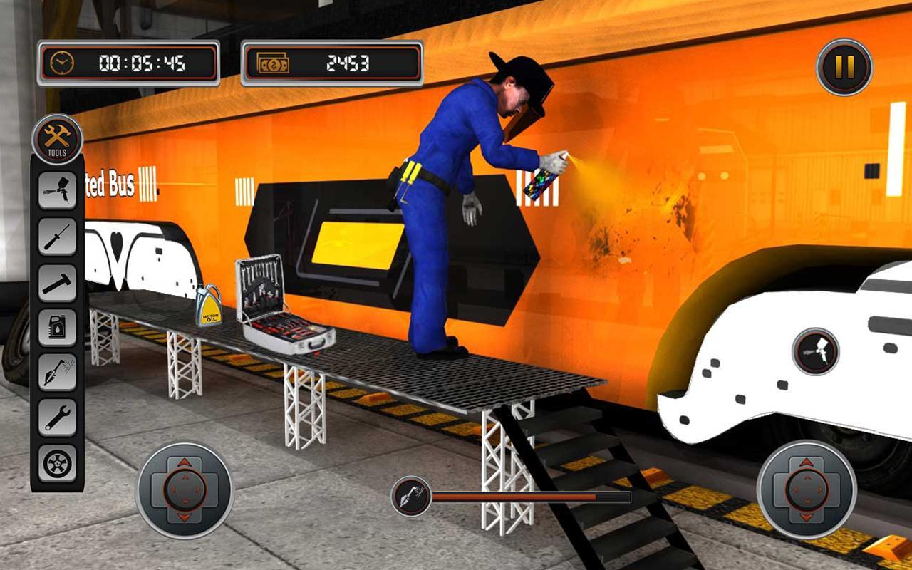 Bus mechanic auto repair shop car garage simulator for Garage auto b2