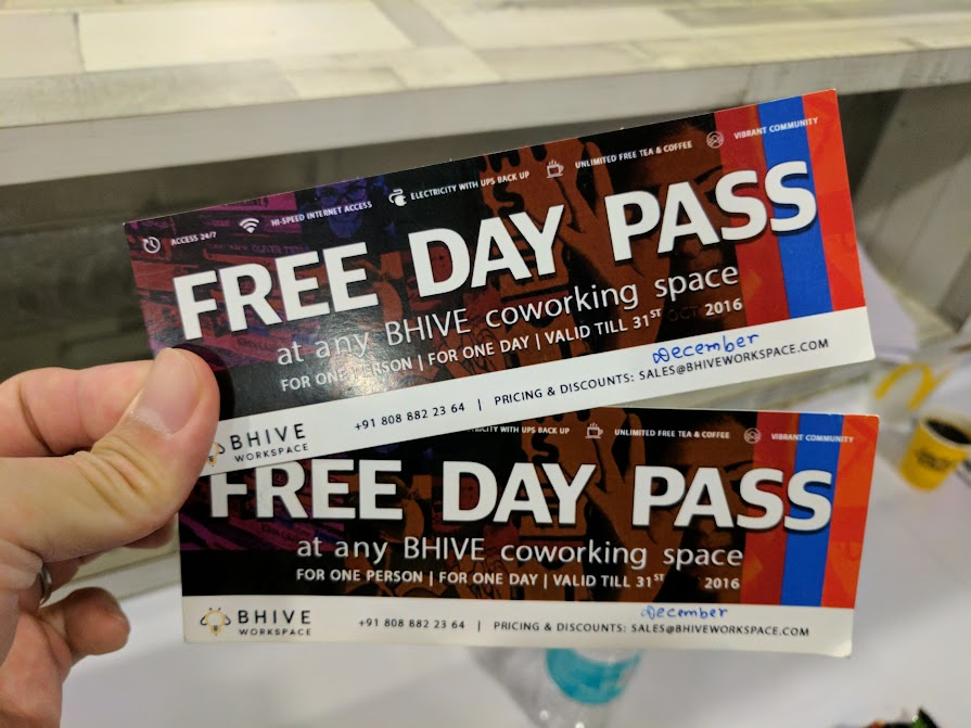 BHive Free Ticket