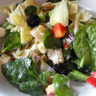 Chicken Pasta Salad with Basil Vinaigrette.
