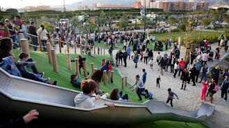 Imagen aérea del actual Parque de las Familas
