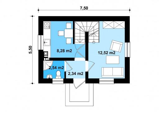 G320 - Budynek rekreacji indywidualnej - Rzut parteru