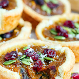 Pumpkin Butter Tarts with Pepitas and Cranberries Recipe