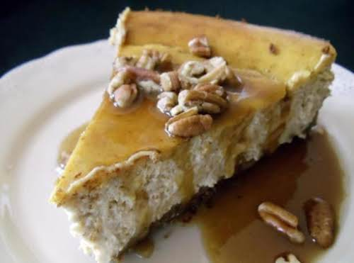 "Pumpkin Cheesecake with Gingersnappy Crust ""This is the best cheesecake ever!! That..."