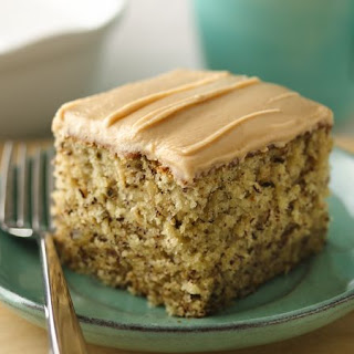 Banana-Nut Cake with Peanut Butter Frosting.