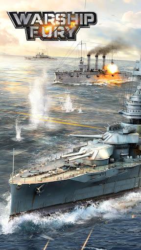 Warship Fury-Le meilleur jeu de guerre navale APK MOD – Monnaie Illimitées (Astuce) screenshots hack proof 1