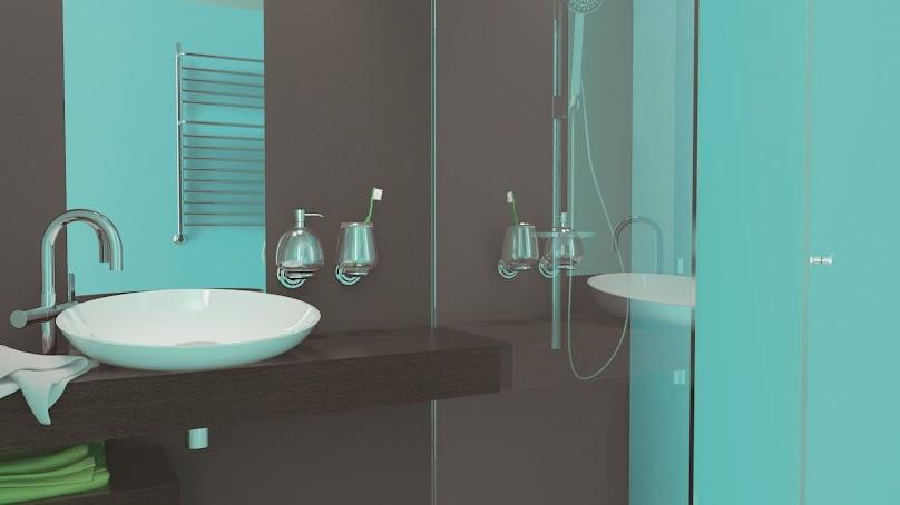 Ściany pomalowane farbą do kuchni i łazienki