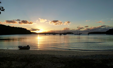 Photo: Port Morelle at sunset